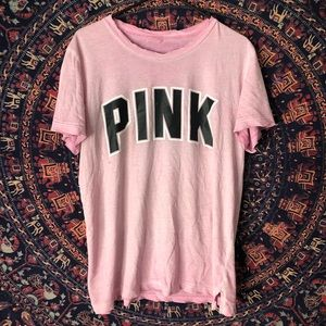 Oversized Pink Distressed Tee